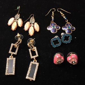 Lot of five pairs of Earrings